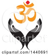 Clipart Of A Pair Of Hands With An Om Symbol Royalty Free Vector Illustration by ColorMagic