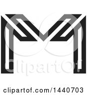 Black And White Letter M Design