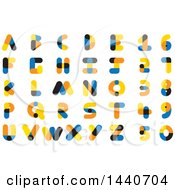 Clipart Of Colorful Alphabet Designs Royalty Free Vector Illustration