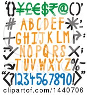 Clipart Of Alphabet Designs Royalty Free Vector Illustration