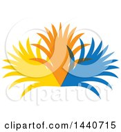 Clipart Of A Colorful Palm Branch Design Royalty Free Vector Illustration
