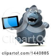 3d Gorilla Mascot On A White Background