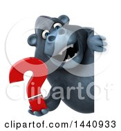 3d Gorilla Mascot On A White Background