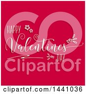 Happy Valentines Day Greeting On Dark Pink