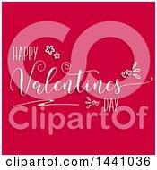 Happy Valentines Day Greeting On Dark Pink