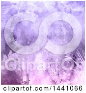 Clipart Of A Purple Watercolor Painted Splat Background Royalty Free Illustration