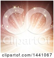 Clipart Of A Starry Burst Royalty Free Vector Illustration