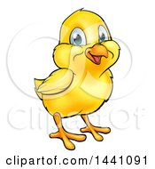 Poster, Art Print Of Cute Happy Yellow Cartoon Easter Chick