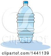 Clipart Of A Bottled Water Royalty Free Vector Illustration