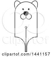 Black And White Bear Head Pen Nib