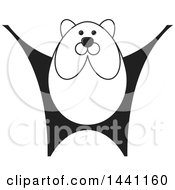 Clipart Of A Black And White Bear Royalty Free Vector Illustration