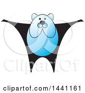 Clipart Of A Blue Bear Royalty Free Vector Illustration