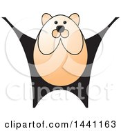 Clipart Of A Black And Orange Bear Royalty Free Vector Illustration