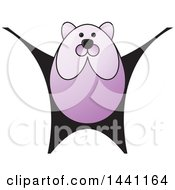 Clipart Of A Purple Bear Royalty Free Vector Illustration