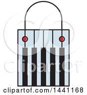 Clipart Of A Piano Keyboard Shopping Bag Royalty Free Vector Illustration by Lal Perera