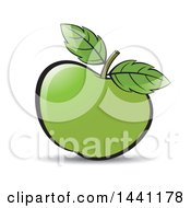 Green Apple And Leaves