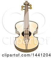 Clipart Of A Guitar Royalty Free Vector Illustration by Lal Perera