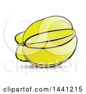Clipart Of A Carambola Star Fruit Royalty Free Vector Illustration