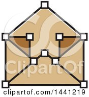 Clipart Of A Brown Envelope Icon Royalty Free Vector Illustration by Lal Perera