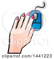 Poster, Art Print Of Hand Using A Computer Mouse