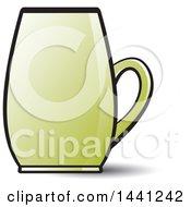Clipart Of A Green Mug Royalty Free Vector Illustration