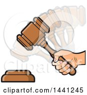 Hand Banging A Judge Or Auction Gavel