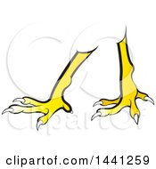 Clipart Of A Pair Of Chicken Legs Royalty Free Vector Illustration
