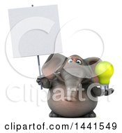 Poster, Art Print Of 3d Elephant Character On A White Background