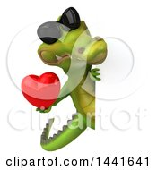 3d Crocodile On A White Background