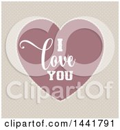 Clipart Of A Vintage Valentines Day I Love You Heart On Polka Dots Royalty Free Vector Illustration