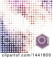 Clipart Of A Geometric Frame Invitation Over Pixels Royalty Free Vector Illustration
