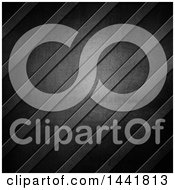 Clipart Of A Dark Scratched Metal Background With Diagonal Lines Royalty Free Illustration