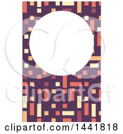 Clipart Of A Colorful Modern Geometric Vertical Business Card Or Background Design Royalty Free Vector Illustration