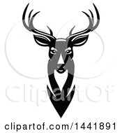 Clipart Of A Black And White Buck Royalty Free Vector Illustration