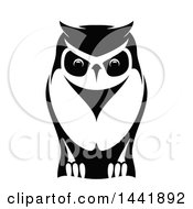 Clipart Of A Black And White Owl Royalty Free Vector Illustration by Vector Tradition SM