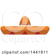 Clipart Of A Mexican Sombrero Hat Royalty Free Vector Illustration by Vector Tradition SM