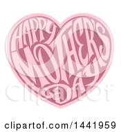 Two Toned Love Heart With Happy Mothers Day Text Inside