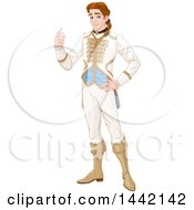Clipart Of A Handsome Prince Royalty Free Vector Illustration