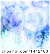 Clipart Of A Grungy Watercolor Background Royalty Free Illustration