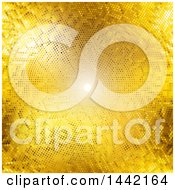 Clipart Of A Background Of Light And Golden Dots Royalty Free Vector Illustration