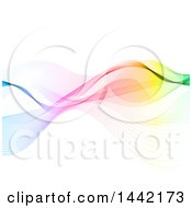 Clipart Of A Background Of Colorful Waves Royalty Free Vector Illustration by KJ Pargeter