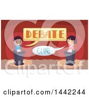 Boy And Girl In A Debate Club
