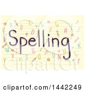 Sheet Of Ruled Paper With Spelling Text And Letters