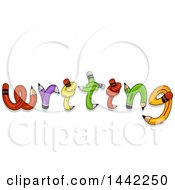 Clipart Of The Word Writing Formed Of Twisted And Knotted Pencils Royalty Free Vector Illustration by BNP Design Studio