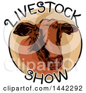 Livestock Show Icon With A Cow Head