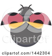 Clipart Of A Ladybug From Above Royalty Free Vector Illustration by BNP Design Studio