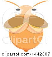 Clipart Of A Bee From Above Royalty Free Vector Illustration