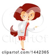 Clipart Of A Female Fox Wearing A Science Lab Coat Royalty Free Vector Illustration by BNP Design Studio
