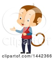 Monkey Teacher Presenting