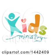 Clipart Of A Kids Ministry Text Design Royalty Free Vector Illustration
